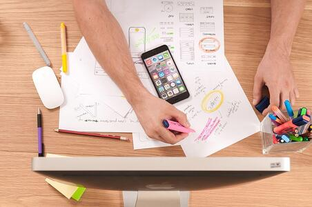 UX designs for a mobile app